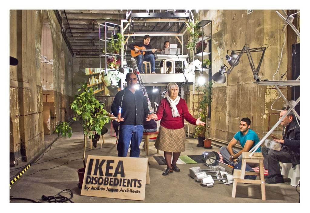 IKEA DISOBEDIENTS. Manifesto-performance by Andrés Jaque and the Office for Political Innovation. Madrid, 2011. (2)